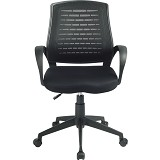 HIGH POINT Office Chair Austin [W120A] - Black - Kursi Kantor